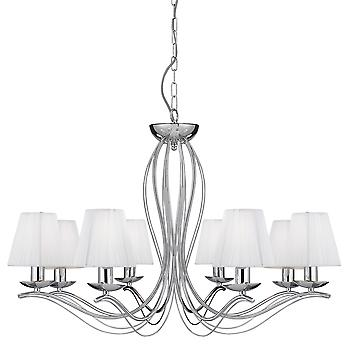Searchlight 9828-8CC Andretti Chrome 8 Light Pendant Ceiling Light