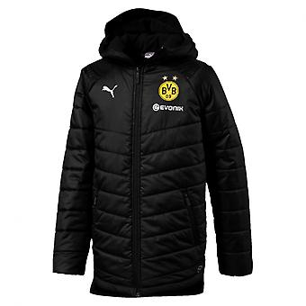 PUMA BVB bench Jr with sponsor logo kids jacket black