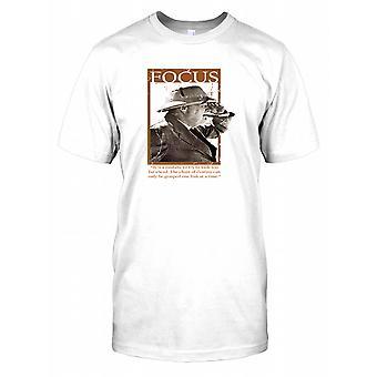 Winston Churchill - Focus - łańcuch z przeznaczeniem dla dzieci T Shirt