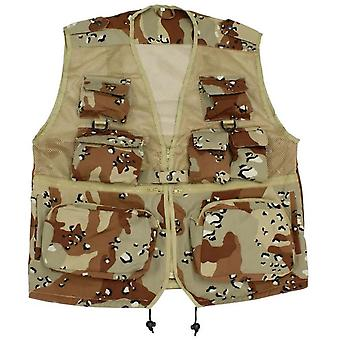 Original Multi Pocket Fishing Vest Net Waistcoat