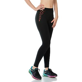 Jerf- Womens-split Black - Seamless Leggings