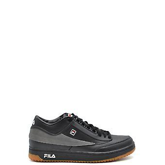 Fila Black Leather Sneakers