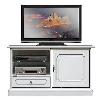 TV Rack met glazen plank 1 deur 1 lade