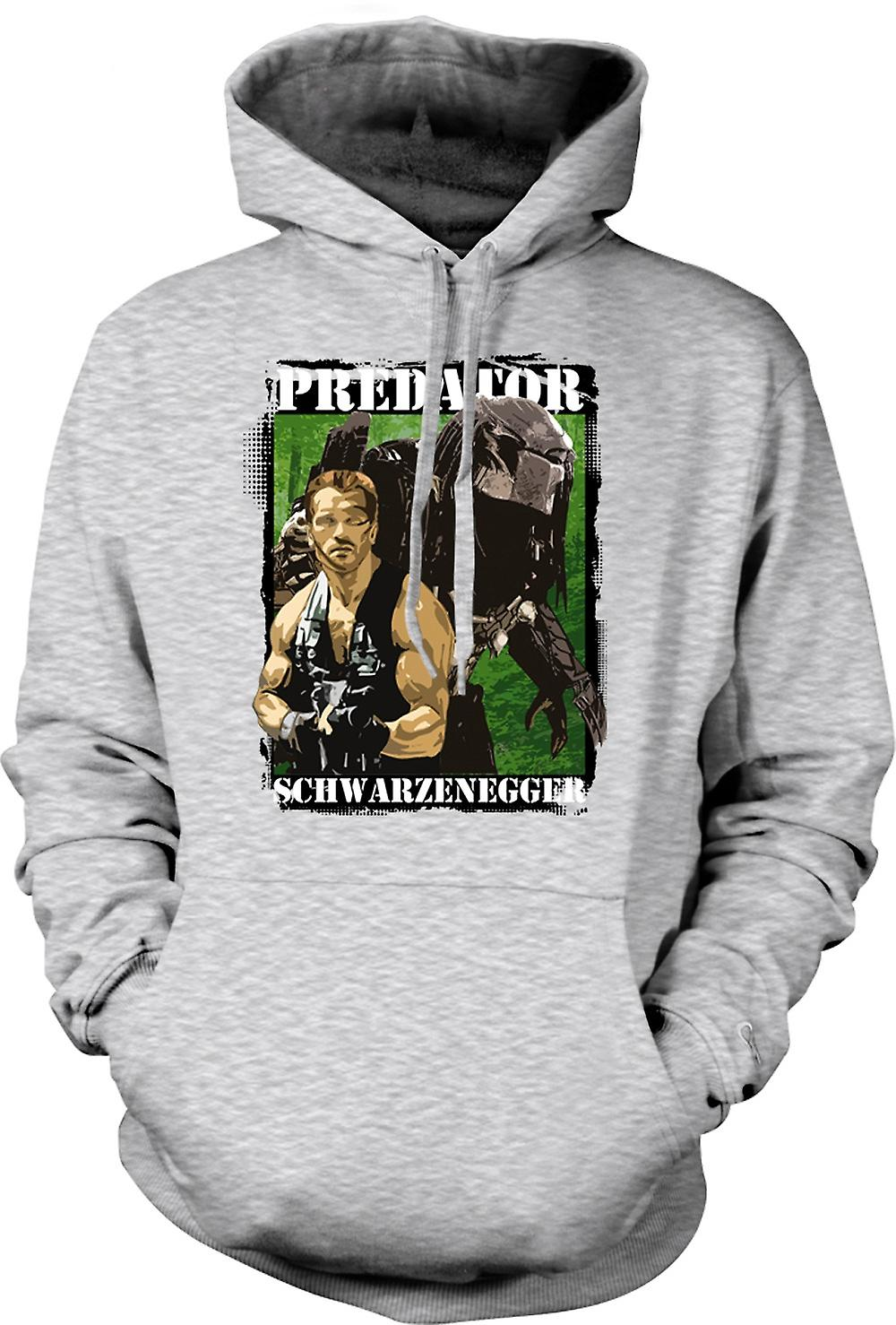 Mens-Hoodie - Predator-Alien - Schwarzenegger