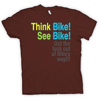 Kinder T-shirt - denke, Bike, Bike - Zitat zu sehen