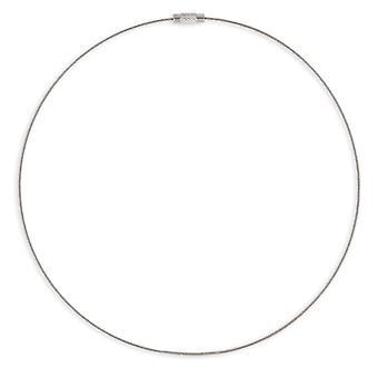 Kabel rost fritt stål halsband 316l 42cm