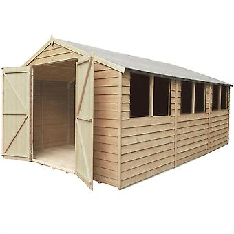Forest Garden 10x15ft Overlap Pressure Treated Apex Roof Shed