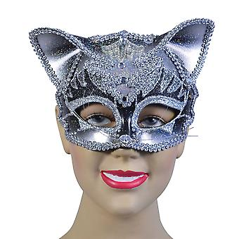 Bristol Novelty Unisex Adults Jewelled Cat Mask
