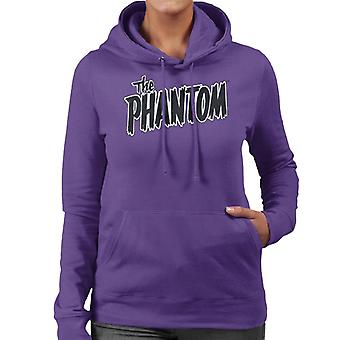 The Phantom Text Logo Women's Hooded Sweatshirt