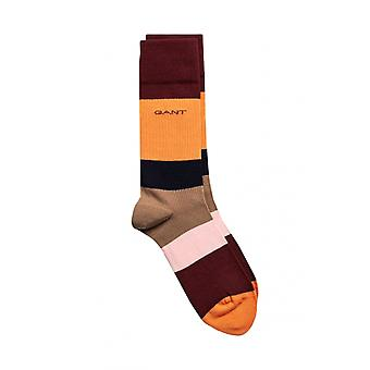 Gant D1. Colour Block Socks Warm Khaki