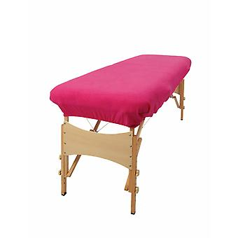 Aztex Massage Couch Cover Without Face Hole - Cerise Pink