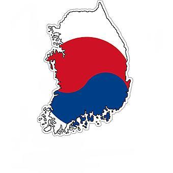 Autocollant Sticker Adhesif Voiture Vinyle Drapeau Carte Coree Du Sud