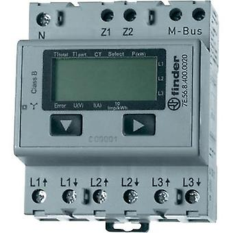 Electricity meter (3-phase) incl. converter jack digital 5 A MID-approved: No Finder