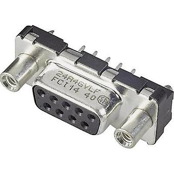 D-SUB receptacles 180 ° Number of pins: 15 Print FCI D-SUB 1 pc(s)