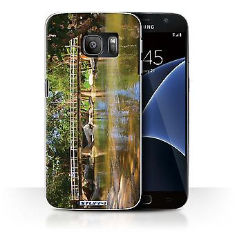 STUFF4 Case/Cover for Samsung Galaxy S7/G930/Footbridge/Thailand Scenery
