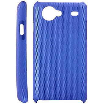 Dotted plastic cover for Samsung Galaxy S Advance i9070 (blue)