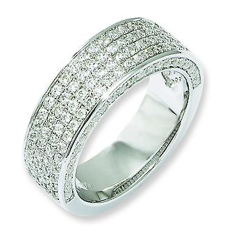 Argent sterling et Fancy CZ Ring - Ring taille : 6 à 8