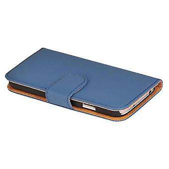 Protective case pouch (flip cross) for mobile phone Apple iPhone 6 plus dark blue