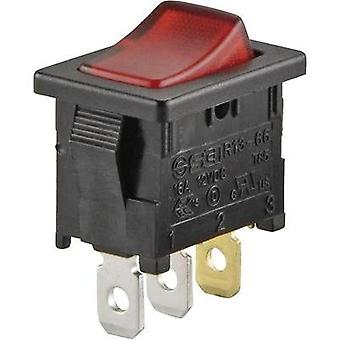 Toggle switch 250 Vac 6 A 1 x Off/On SCI R13-66B-02 LED 12V/DC latch 1 pc(s)