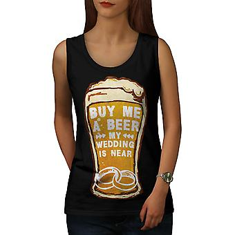 Beer Wedding Party Stag Bachelor Party Women Black Tank Top | Wellcoda