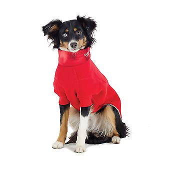 Muddy Paws confortable polaire rouge Large