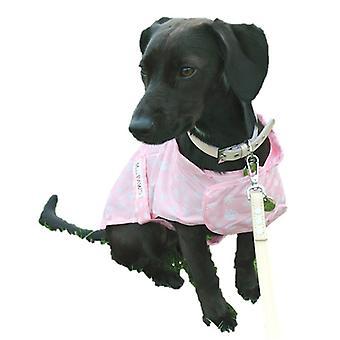 Macpaws sammenfoldelig hund regn frakke Pink kæreste 22