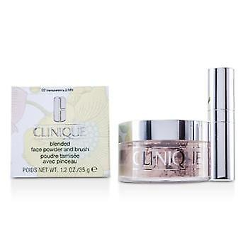 Clinique Blended Face Powder + Brush - No. 02 Transparency; Premium price due to scarcity - 35g/1.2oz