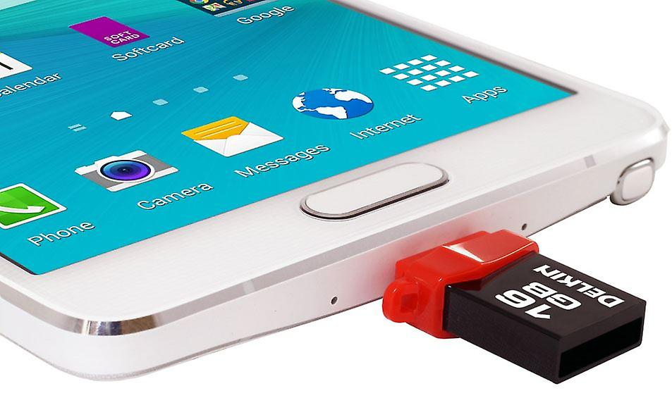 Delkin 16GB PictureStick USB 3.0 Flash Drive for Android Tablets and SmartPhones