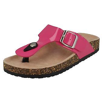 Womens flekk på justerbar spenne Toepost sandaler