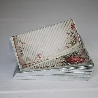 Vintage Green Floral Wedding Place Cards / Setting x 25 - Shabby Style Chic