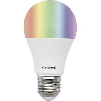 LED E27 Arbitrary 6 W = 40 W RGBW (Ø x L) 60 mm x 113 mm EEC: A+ LightMe colour-changing, dimmable, incl. remote control