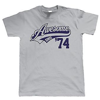 Vectorbomb, Awesome sedan 1974 Mens rolig T Shirt (S till 5XL)