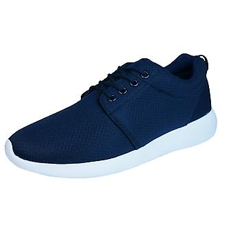 DT New York Mens Lace Up Trainers / Shoes - Navy