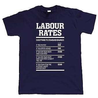 Vectorbomb, Labour Rates Mens Funny T Shirt (S to 5XL)