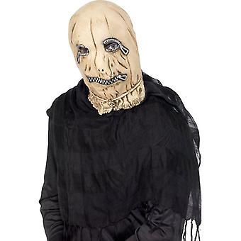 Leatherface esclave au masque épouvantail zip Halloween