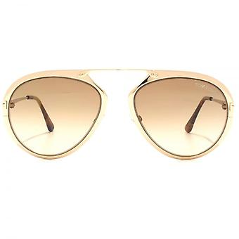 Lunettes de soleil Tom Ford Dashel en or Rose brillant marron