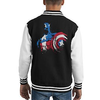 Captian America Captian ist kommen Kid Varsity Jacket