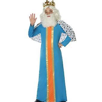 Traje de los niños trajes hombre sabio/rey niño azul