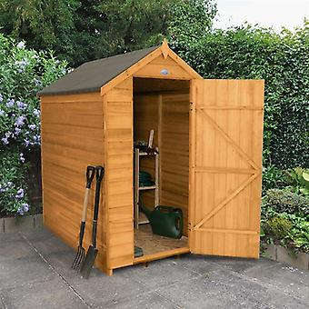 Forest Garden 4 x 6 Security Overlap Apex Garden Shed
