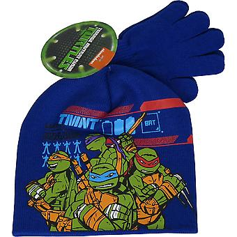Nickelodeon Ninja Turtles Winter 2 Piece set Beanie, Hat & Gloves