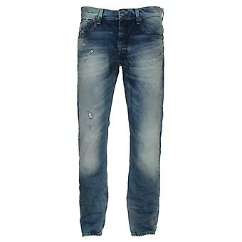 G-Star Attacc Straight Medium Aged Destroy Visor Denim Jeans