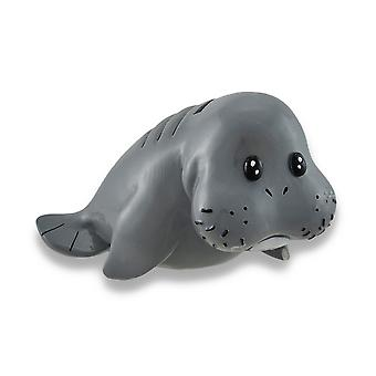 Whimsical Baby Manatee Coin Bank 6.5 In.