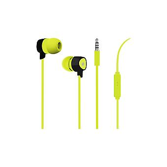 PURO Prism Stereo In-Ear Headphones, lime green