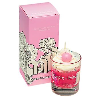 Bomb Cosmetics Bomb Cosmetics Ripple-Licious Piped Glass Candle