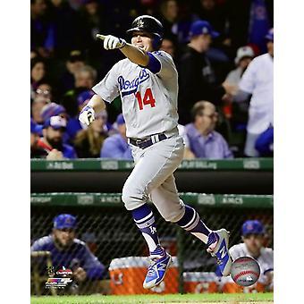 Enrique Hernandez Home Run viering Game 5 van de 2017 National League Championship Series Photo Print