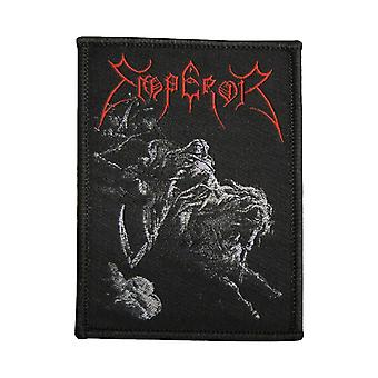 Emperor Patch Rider Skull Band Logo Official New Black Cotton Sew On 9cm x 6cm