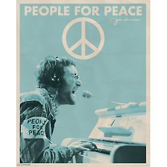 John Lennon - People for Peace Poster Poster Print