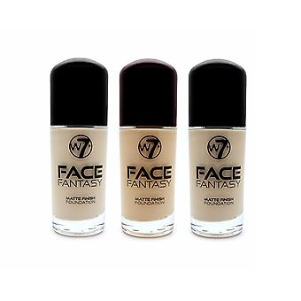 W7 Face Fantasy Matte Finish Foundation 30ml