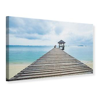 Canvas Print Ocean Footbridge