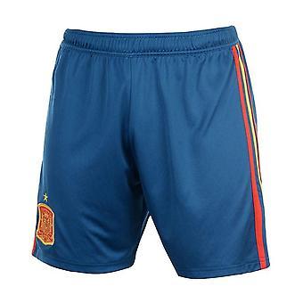 2018-2019 Spanien hem Shorts Adidas fotboll (blå)
